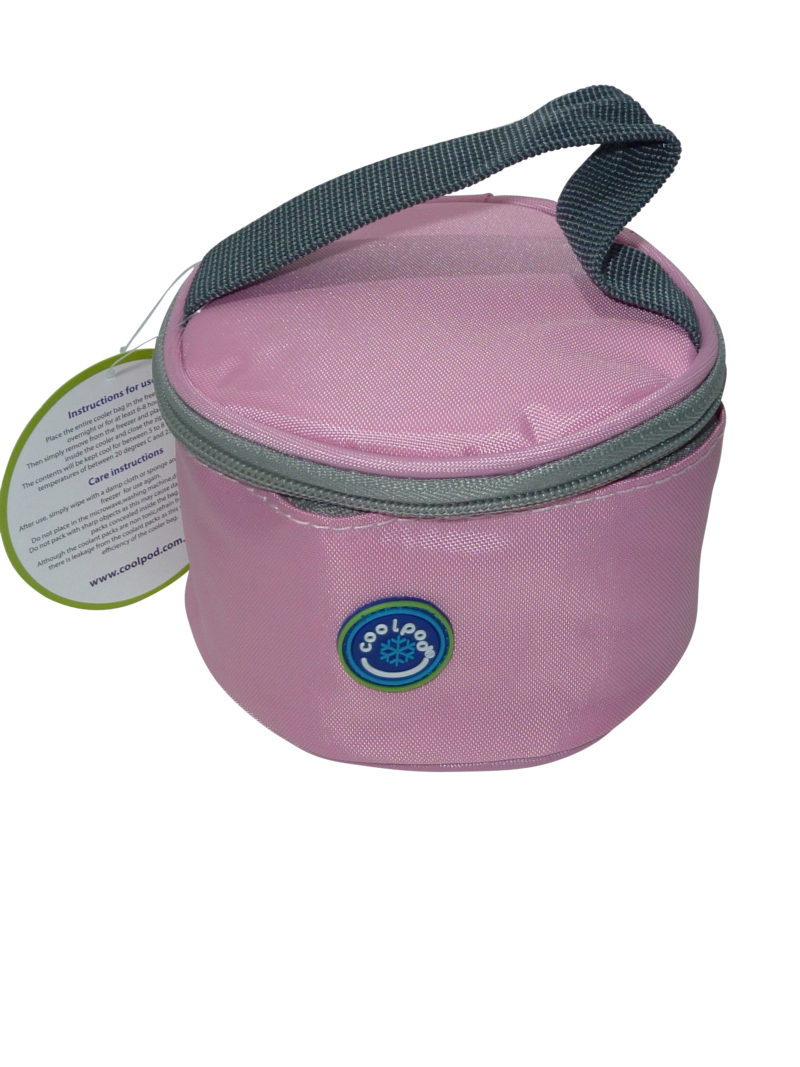 Freezable Small Round Yoghurt Cooler Bag – Fairy Tale Pink
