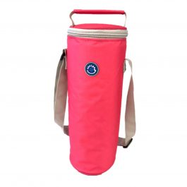 Freezable Bottle Cooler Bag - Pink/Silver