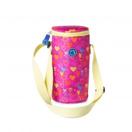 Freezable Small Bottle Cooler Bag - Hearts