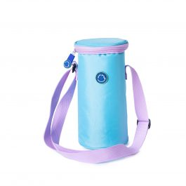 Freezable Small Bottle Cooler Bag - Sky / Lilac